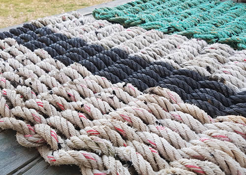 upcycled rope doormat